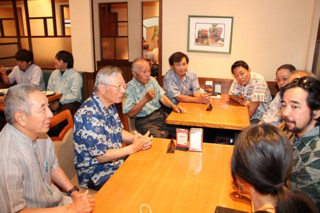 ハワイのHigaさん来沖と短期留学報告会