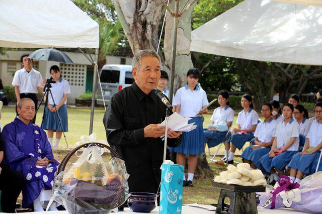 二中健児の塔慰霊祭