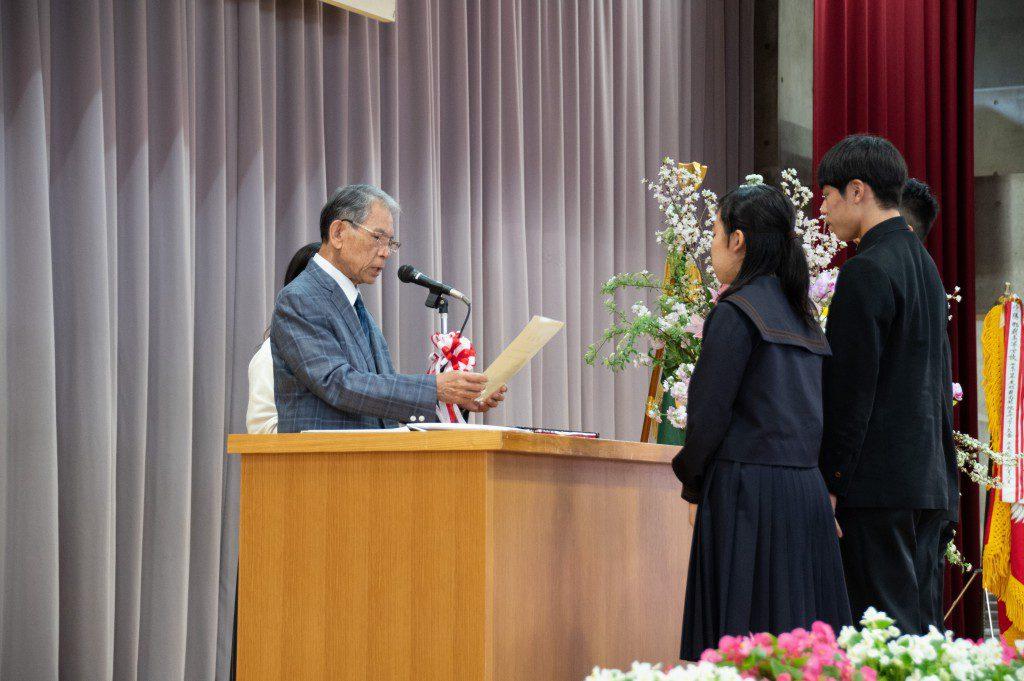 平成30年度城岳賞の贈呈(自転車部)