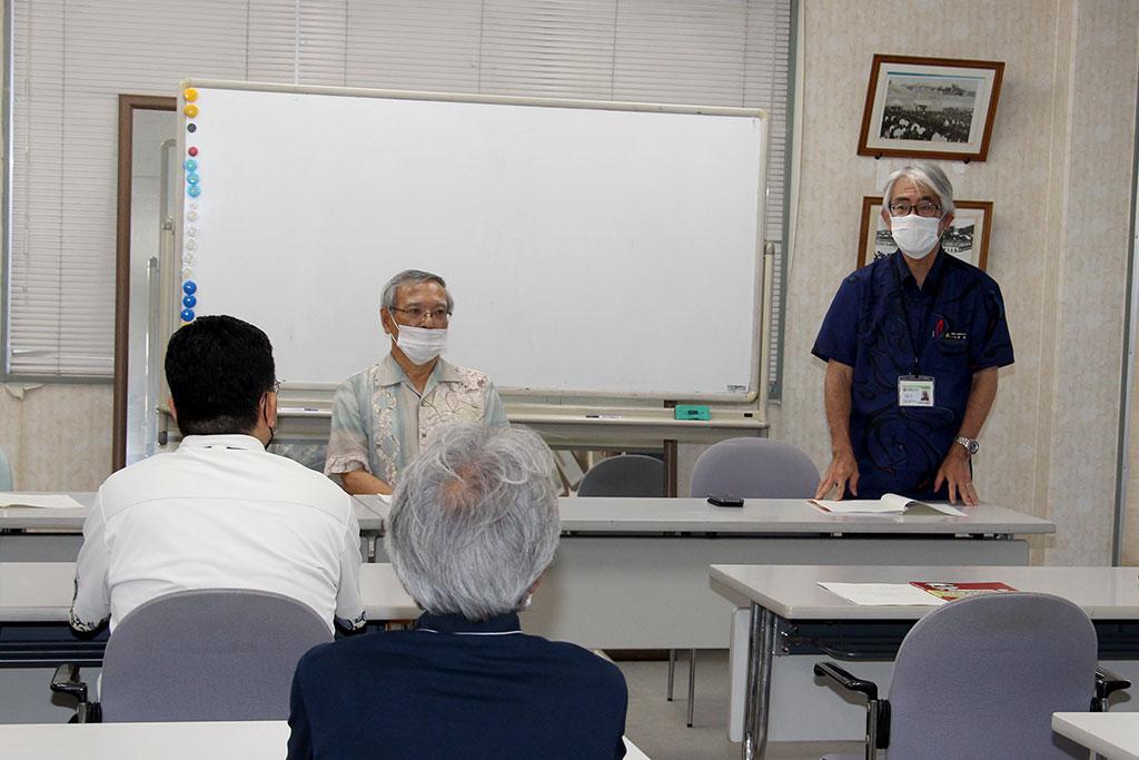 石原 啓 校長先生から実行委員会に対して感謝を述べて解散総会を閉じた